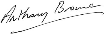 Anthony Browne MP Signature