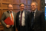 Meeting with Transport Secretary, Grant Shapps (right) and Transport Minister, George Freeman to discuss EWR